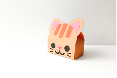 Cat Face Gift Box   SVG   PNG   DXF   EPS