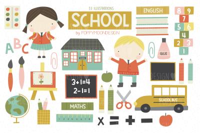 School clipart set