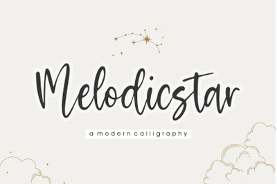 Melodicstar Modern Calligraphy Font
