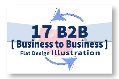 17 B2B or Business to Business Marketing Illustration