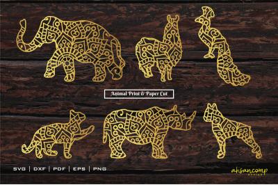 Animal #1 Paper Cut & Print, Vector