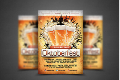 Oktoberfest Flyer Template 3