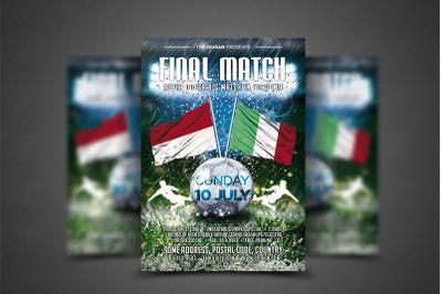 Football Final Match Flyer Template