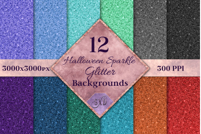 Halloween Sparkle Glitter Backgrounds - 12 Image Textures
