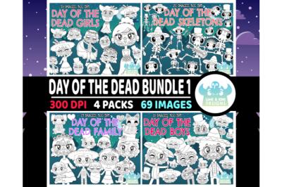 Day of the Dead Da de Muertos Digital Stamps Bundle 1