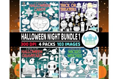 Halloween Night Digital Stamps Bundle 1