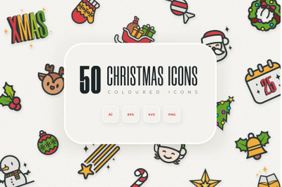 50 Christmas Icons Pack