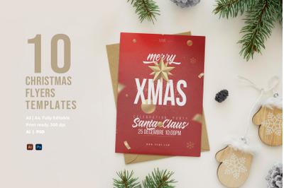 10 Christmas Flyers Templates