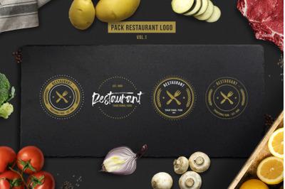 Retro Restaurant Logos Template Vol.1