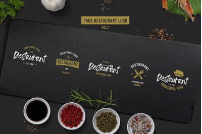 Retro Restaurant Logos Template Vol.2