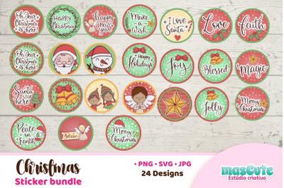 Christmas Ornament SVG Sticker Bundle