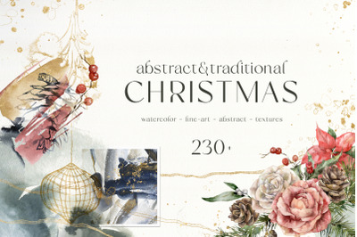ABSTRACT & TRADITIONAL CHRISTMAS clipart
