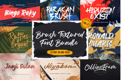Brush Textured Font Bundle Vol. 2