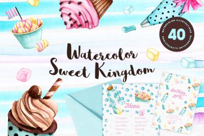 Watercolor Sweet Kingdom