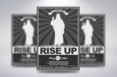 Rise Up Church Flyer
