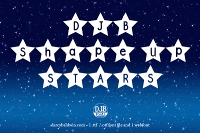 DJB Shape Up Stars Font