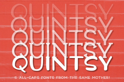 Quintsy: a five-font set!