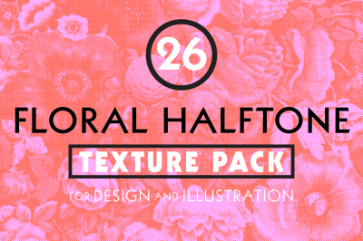 Floral Halftone Texture Pack