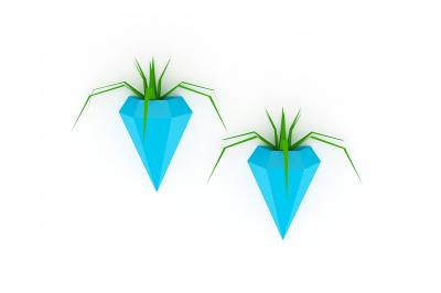 DIY Diamond Planter (Printable)