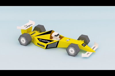DIY F1 Car Model (Printable)
