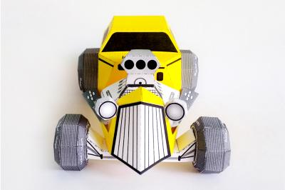 DIY Hotrod Car model (Printable)