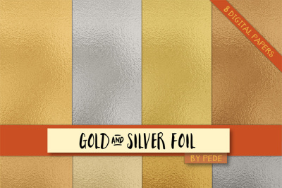 Gold and silver foil