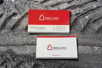 simple house business card