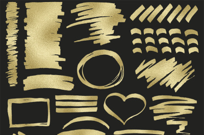 Gold foil digital clipart