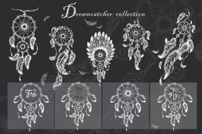 Dreamcatcher, feathers and beads