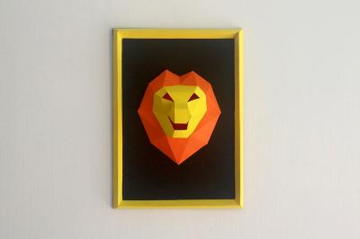 DIY Baby Lion Frame (Printable)