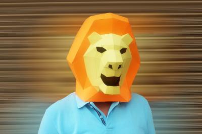DIY Lion Mask (Printable)