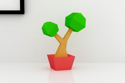DIY Low Poly Tree (Printable)