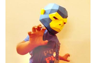 DIY Monkey Mask (Printable)