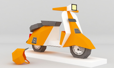 DIY Scooter Model (Printable)