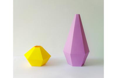 DIY Geometrical Vases (Printable)