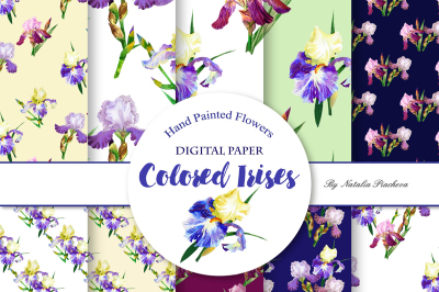 Digital Paper with Colored Irises