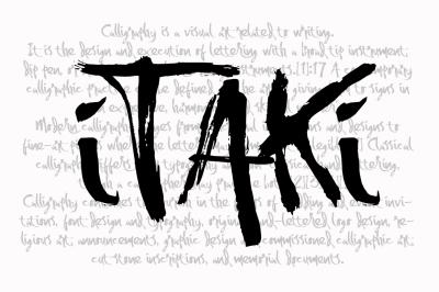 itaki - calligraphic typeface