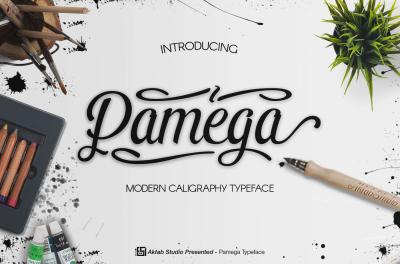 Pamega Script Modern Caligraphy