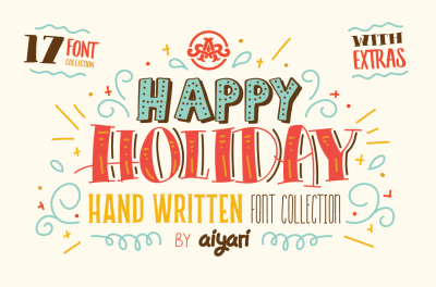 Holiday Font Collection With Extras