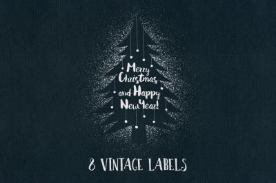 Vintage Christmas Labels