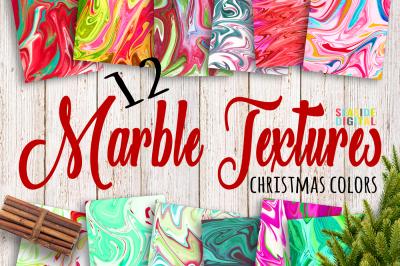 Christmas  Liquid Paper Textures