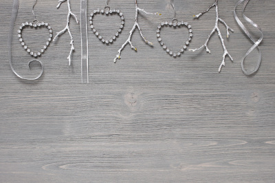 Holiday gray wooden background