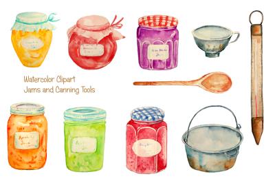 Watercolor Clipart Jam Jar