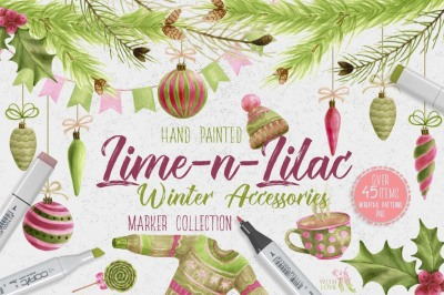Lime-n-Lilac Winter Accessories
