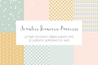 Seamless Pastel Geometric Patterns