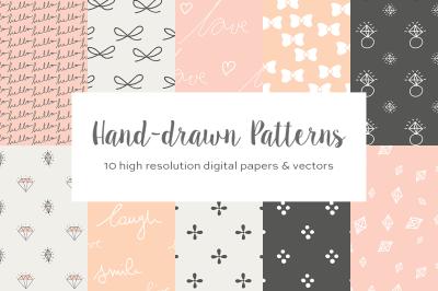 Cute hand drawn patterns
