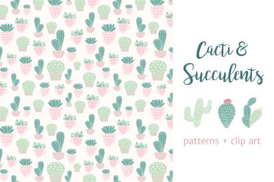 Cactus: seamless vector patterns