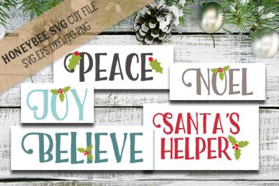 Christmas Word Bundle cut files