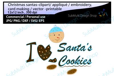 Christmas santa's cookies Clip art