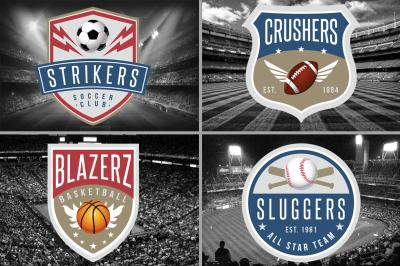 4 Sports Logos Templates